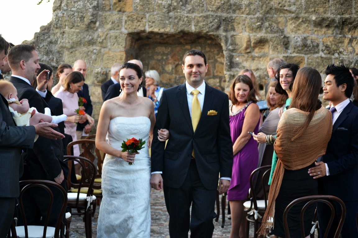 wedding on the terrace of the medieval watchtower